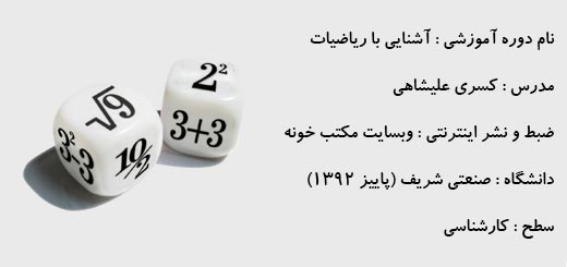تصویر آشنایی با ریاضیات